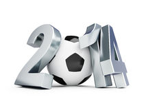 Brazil football 2014. On a white background Stock Photo
