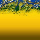 Brazil Football Background. An abstract illustration of  Brazil Football Background Stock Photography
