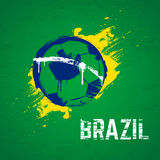 Brazil football background. Brazil 2014 football grunge background Stock Photo