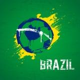Brazil football background. Brazil 2014 football grunge background vector illustration