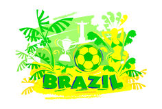 Brazil football ,background vector Stock Photography