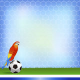 Brazil and Football background Stock Photos
