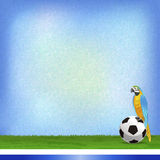 Brazil and Football background Royalty Free Stock Image