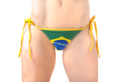 Brazil Football Bikini Stock Photography
