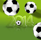 Brazil Football. Creative Symbol Background Design Royalty Free Stock Image