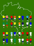 Brazil Football Cup Groups Map Jerseys Royalty Free Stock Photography