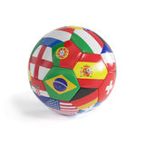 Brazil 2014 football. 3d render of Brazil 2014 football soccerball with countries flags Stock Photos