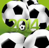 Brazil Football Design. Brazil Football Creative Symbol Background Design Royalty Free Stock Image