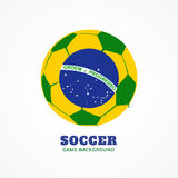 Brazil football design. Vector brazil football design background Royalty Free Stock Photo