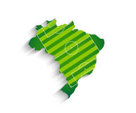 Brazil football field map for 2014 Royalty Free Stock Image