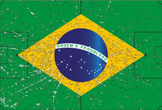 Brazil Football Flag Grunged Stock Photography