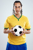 Brazil football player Stock Photo