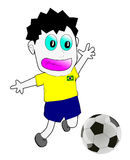 Brazil football player. 2014 on white background Royalty Free Stock Photos
