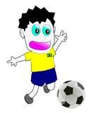 Brazil football player. 2014 on white background stock illustration
