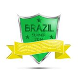 Brazil Football Shield Royalty Free Stock Photography