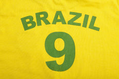 Brazil football shirt Royalty Free Stock Image