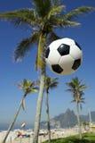 Brazil Football Soccer Ball Rio Palm Tree Skyline Stock Photo