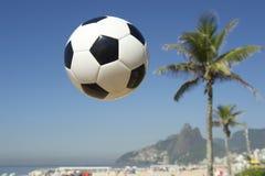 Brazil Football Soccer Ball Rio Palm Tree Skyline Royalty Free Stock Image