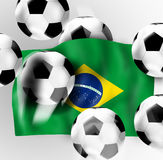 7:1 Brazil Football Soccer Flag Royalty Free Stock Photography