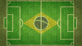 Brazil Football Soccer Pitch Stock Image