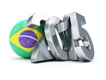 Brazil football 2015. On a white background Royalty Free Stock Photo