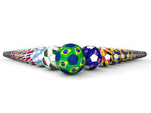 Brazil Football World Cup. 2014 Stock Photos