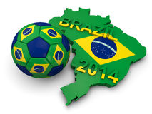 Brazil Football World Cup. 2014 Royalty Free Illustration