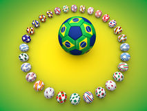 Brazil Football World Cup. 2014 stock illustration