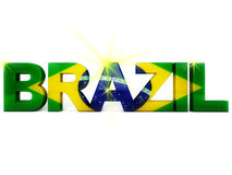 Brazil Football. World Cup 2014 Royalty Free Illustration