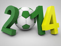 Brazil Football World Cup. Brazil 2014 Soccer World cup Royalty Free Stock Photos