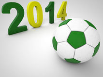 Brazil Football World Cup. Brazil 2014 Soccer World cup Royalty Free Stock Photography