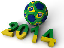 Brazil Football World Cup Stock Images