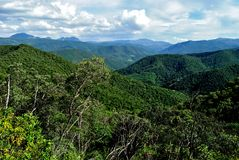 Brazil forest. Forest at valleys. Gandarela hill. Minas Gerais Estate, Brazil Stock Image