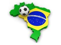 brazil fotboll Royaltyfri Bild
