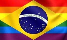 Brazil Gay Flag Stock Photos