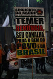 Brazil General Strike. Rio de Janeiro, Brazil, June 30, 2017: Brazilian workers carried out a general strike in the main cities of the country. In Rio de Janeiro Royalty Free Stock Image