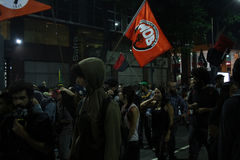Brazil General Strike. Rio de Janeiro, Brazil, June 30, 2017: Brazilian workers carried out a general strike in the main cities of the country. In Rio de Janeiro Stock Images