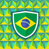 Brazil 2014 geometric background. Abstract geometric Brazil flag concept background. Useful for cover, book, website or advertising design. EPS10 vector with Stock Image