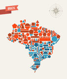 Brazil geometric figures map Stock Photos