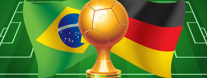 Brazil Germany. World Cup 2014. Germany or Brazil. Germany against Brazil. Who will win Stock Photography