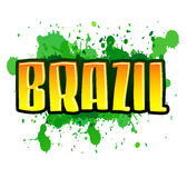 Brazil - green splatter Royalty Free Stock Photos