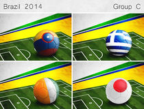Brazil 2014, Group C Royalty Free Stock Images