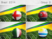 Brazil 2014, Group D Stock Photo