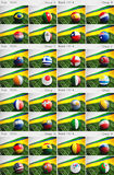 Brazil 2014, Group Drawings Stock Images