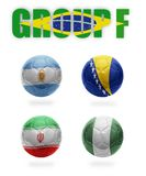 Brazil. Group F . Realistic Football balls Stock Photos