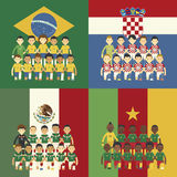 Brazil 2014 Group A Stock Image