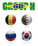 Brazil. Group H. Realistic Football balls Royalty Free Stock Photo