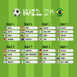 Brazil 2014 group stages, eps10 illustration, soccer post Royalty Free Stock Images