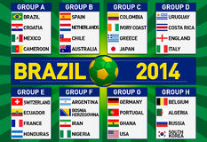 Brazil group stages illustration Royalty Free Stock Photos