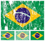 Brazil grunge flag set Royalty Free Stock Photos